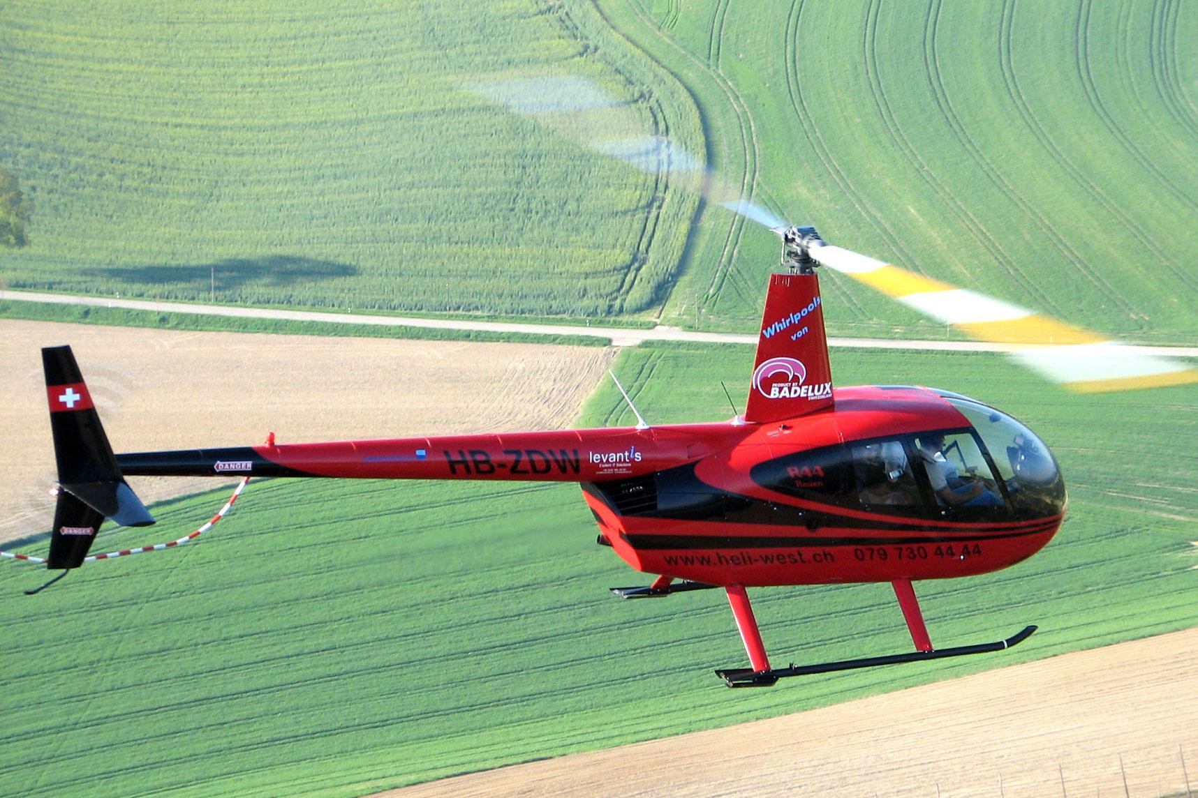 Hubschrauberflug Ganderkes