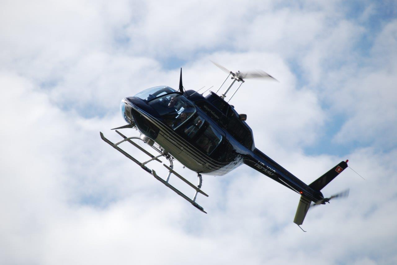 Helikopterflug über Düsseldorf