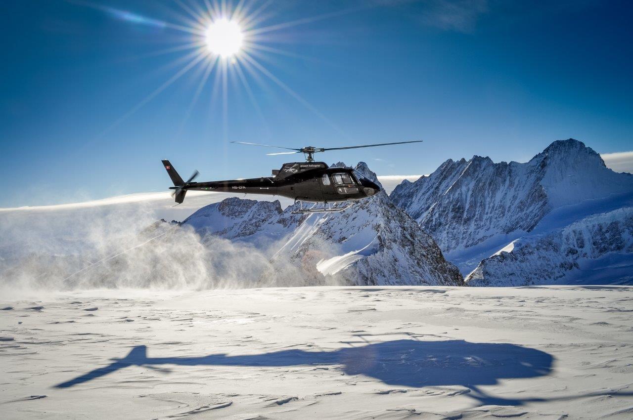 Landung auf Gletscher