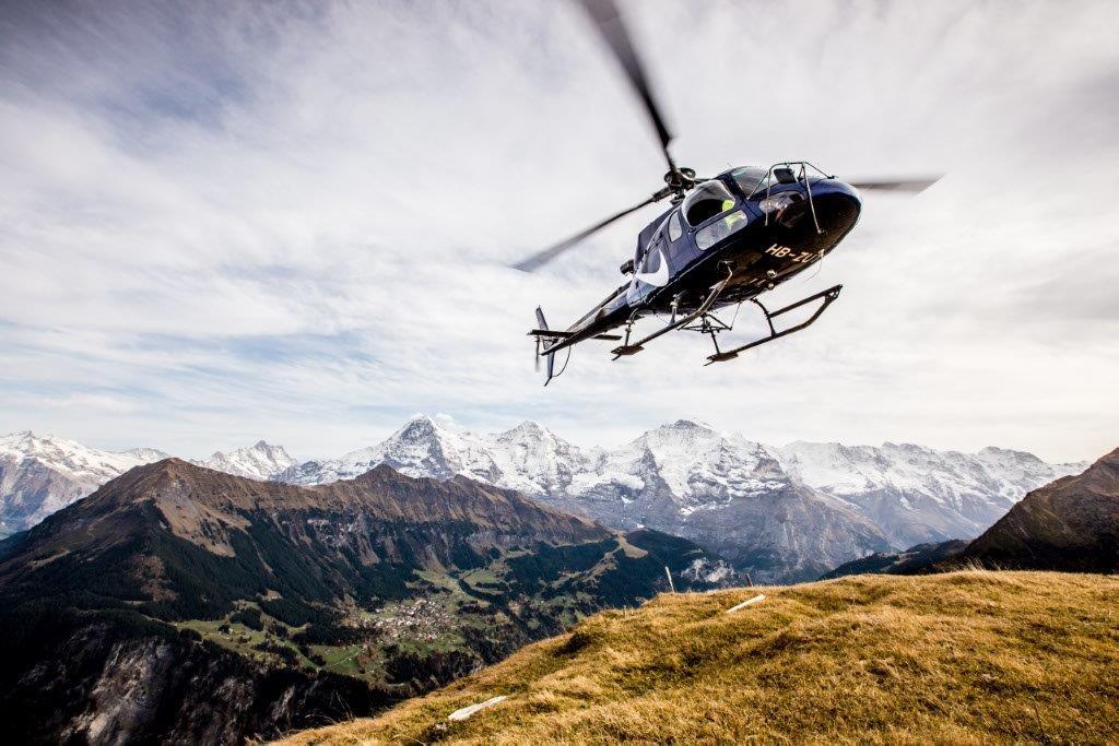 Helikopter Anflug
