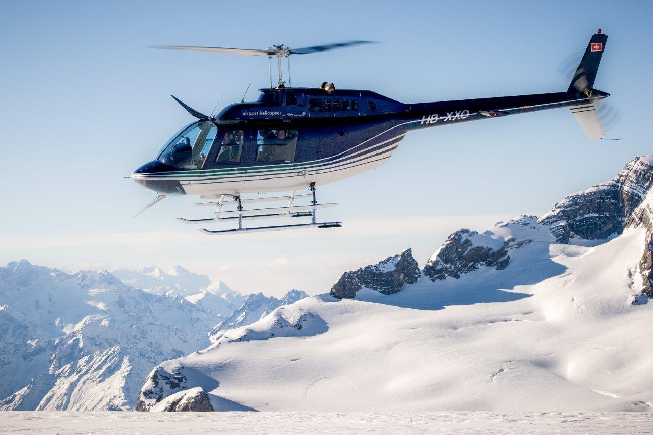 Helikopterstart Lauterbrunnen