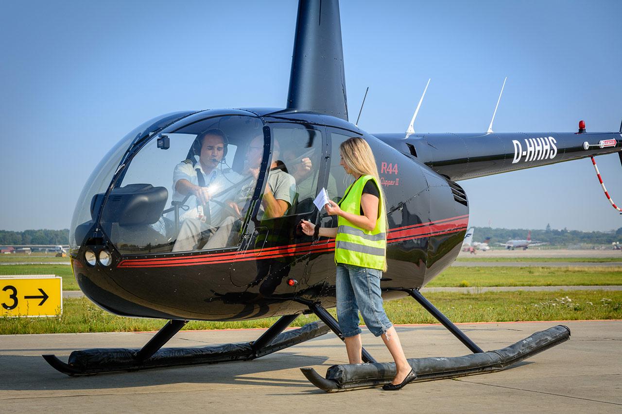 Hubschrauber start Hamburg
