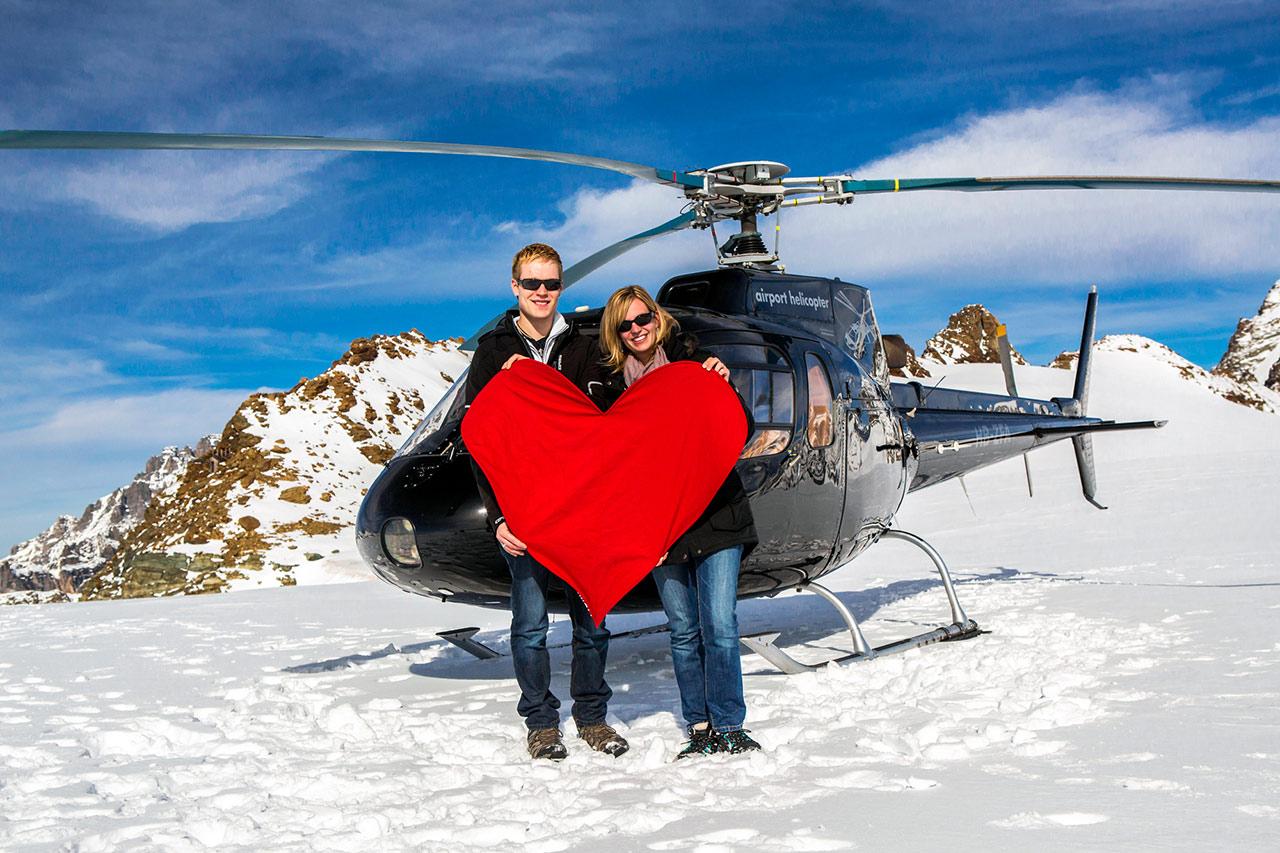 Heiratsantrag mit Herz Sion