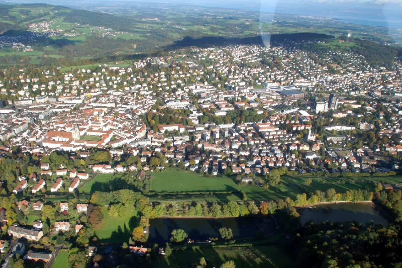 Stadt Überflug ab St. Gallen Altenrhein