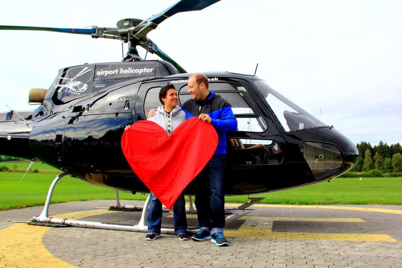 Hubschrauberflug Neumark