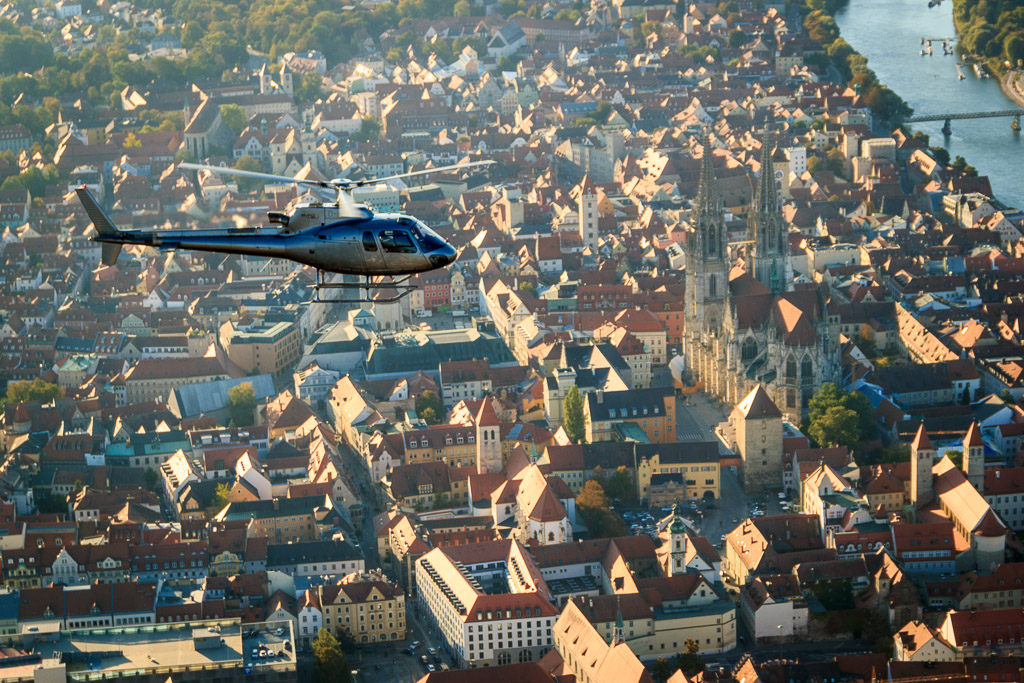 Hubschrauberflug Region Regensbrug