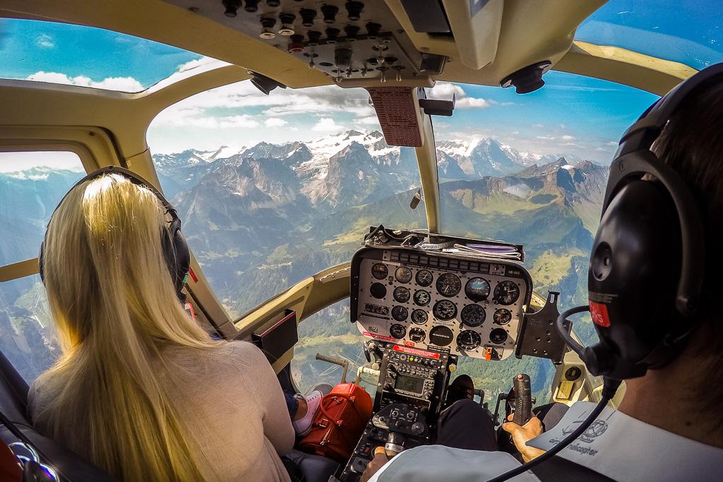 Rundflug Richtung Jungfraujoch