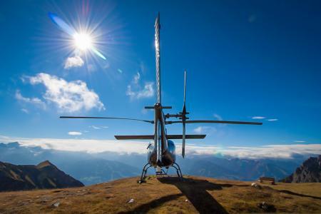 Hubschrauberflug Wolfgangsee Abersee