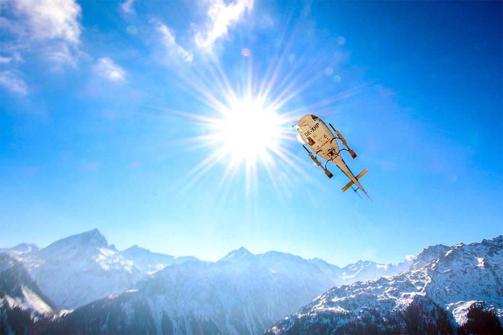 Rundflug Alpen See