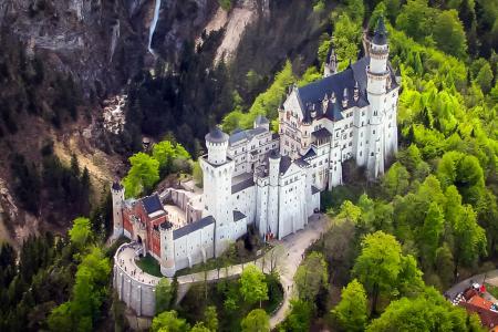 Schloss Neuschwanstein Hubschrauberflug
