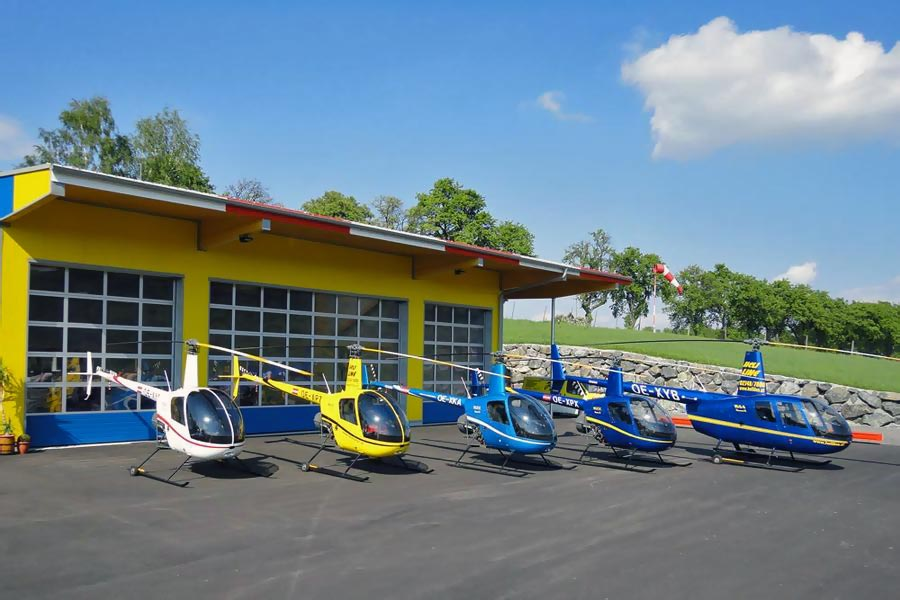 Hubschrauberflug Linz
