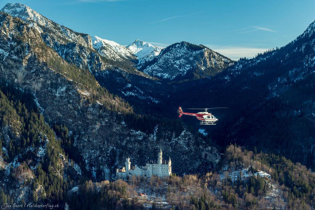 Hubschrauberflug Schloss Neuschwanstein