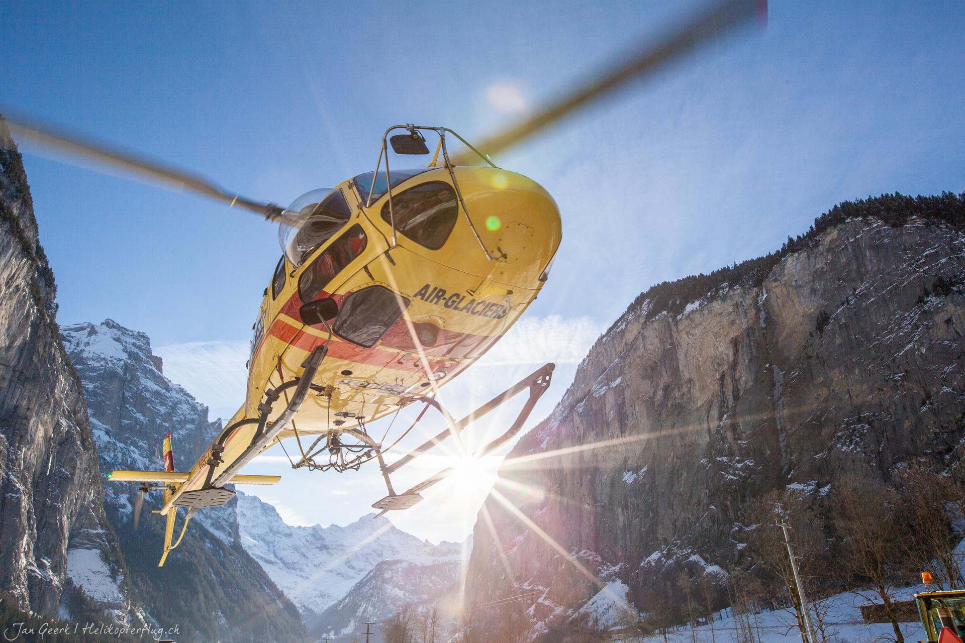 Helikopterrundflug Lauterbrunnen