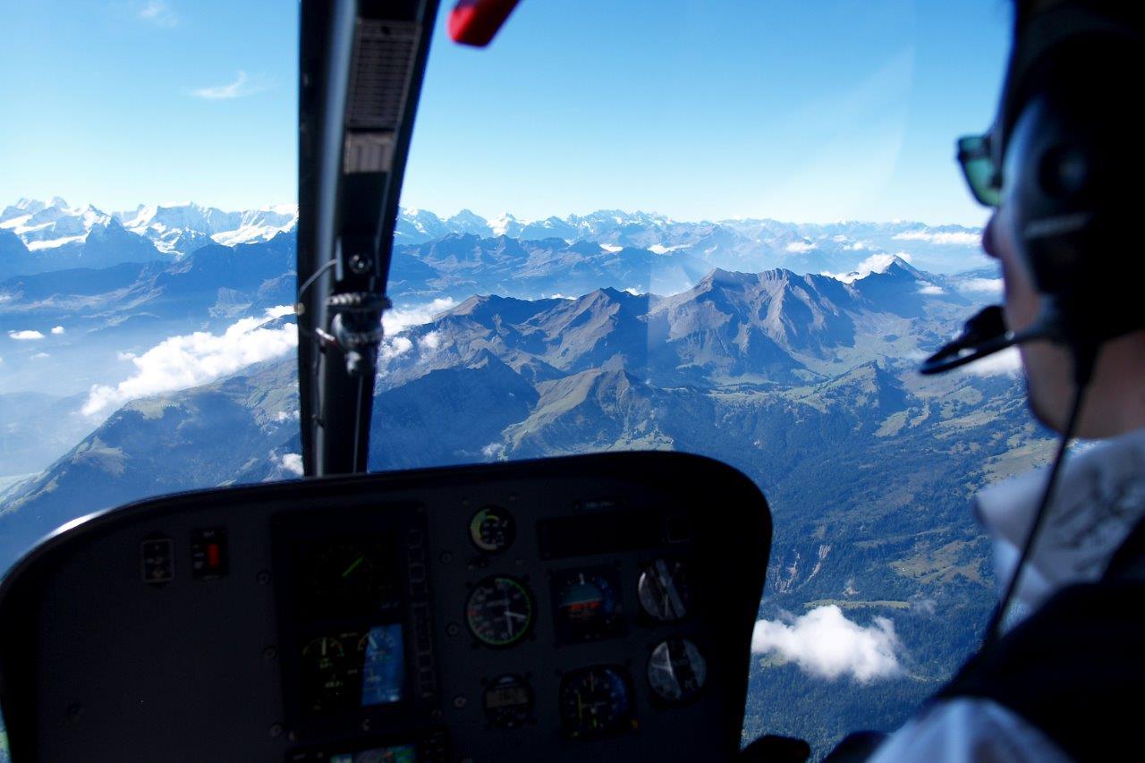 Cockpit Rundflug Sion