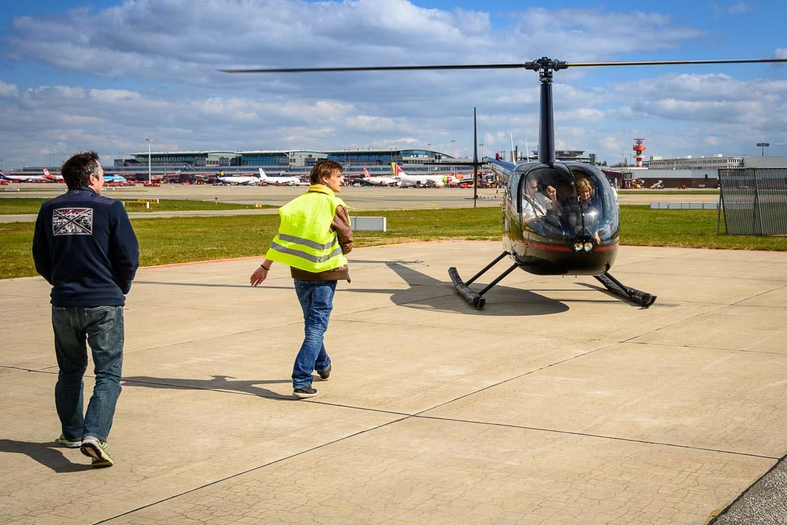 Hubschrauberflug Flughafen Hamburg