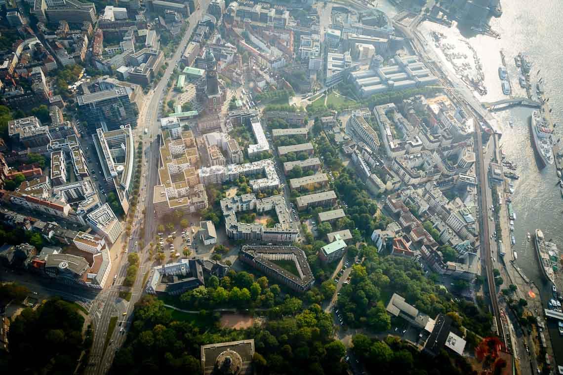 Hubschrauberflug Hamburg
