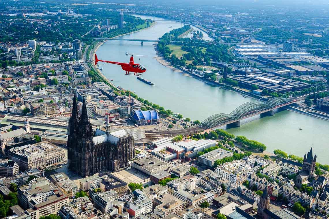 Hubschrauberrundflug Köln