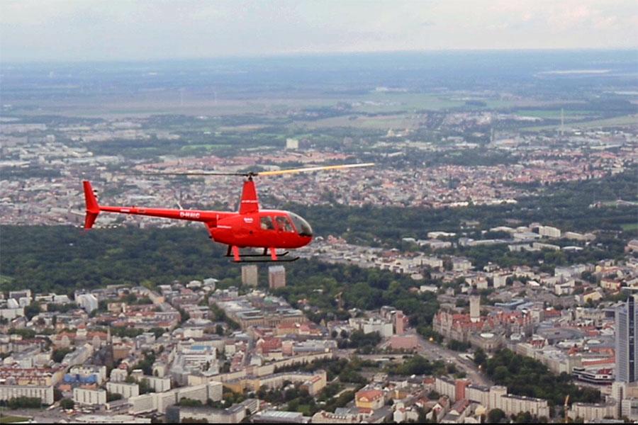 Hubschrauberflug Leipzig