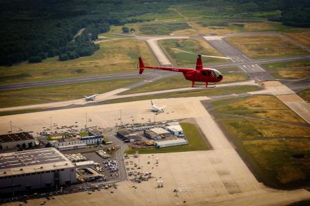 Hubschrauberrundflug Flughafen Leipzig