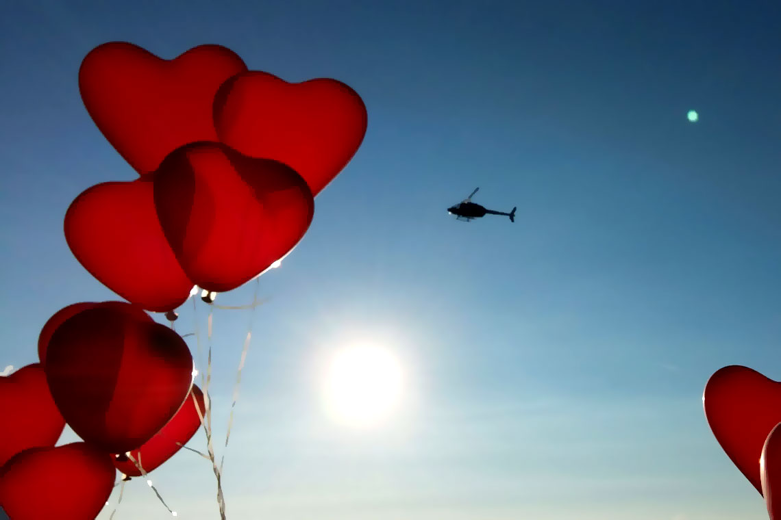 Heiratsantrag Hubschrauber Berlin
