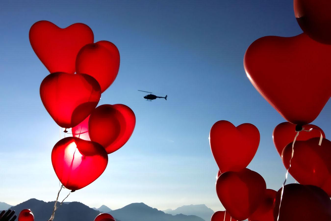 Heiratsantrag Hubschrauber München