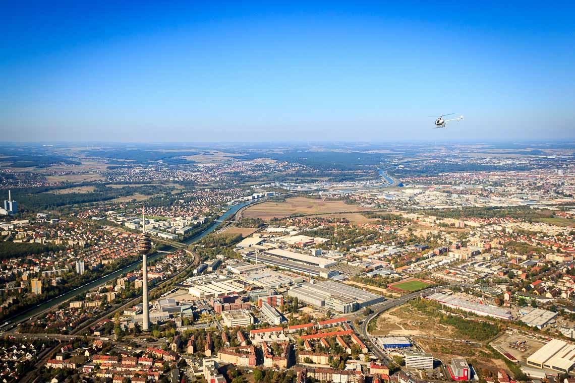 Hubschrauberrundflug Nürnberg