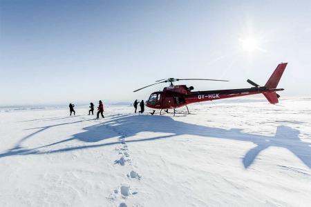 Helikopterundflug Gletscherlandung Island