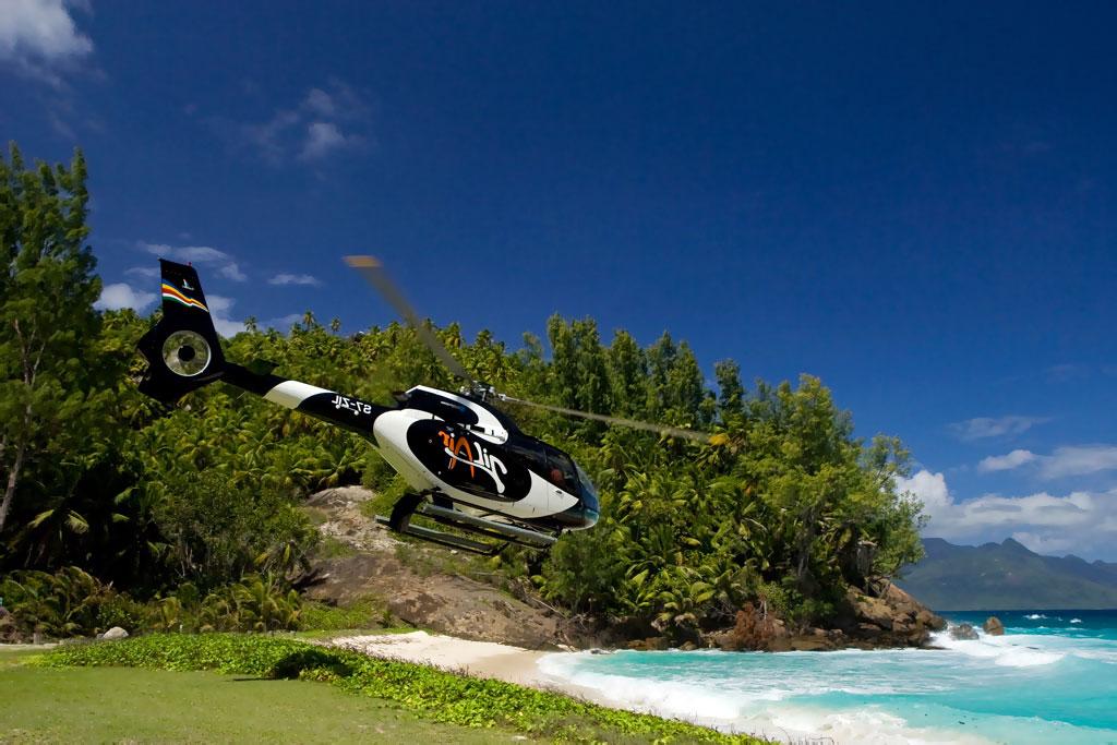 Hubschrauberflug Seychellen