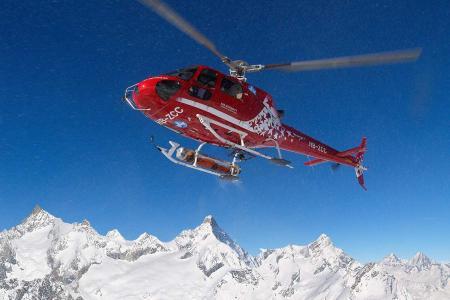 Alpenpanorama Helikopterflug