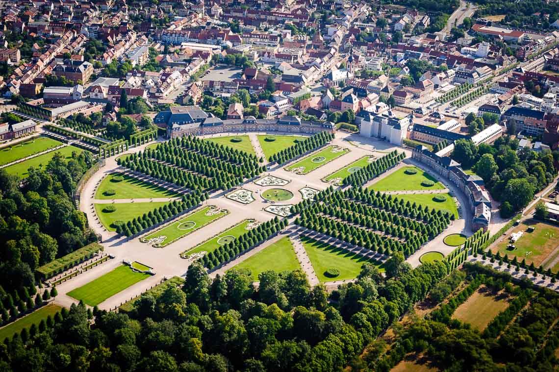 Hubschrauberrundflug Schloss Schwetzingen
