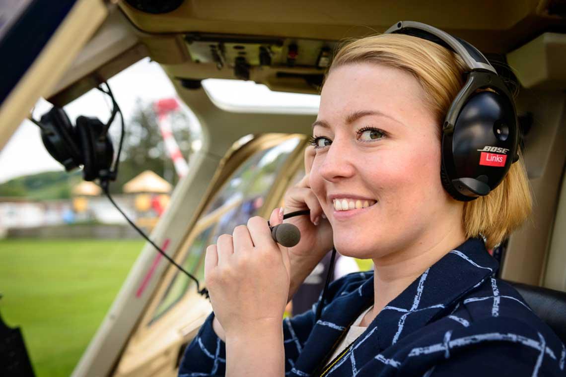 Hubschrauberflug ab Marl Loemühl