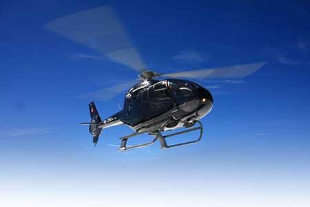 Hubschrauberflug Deutschland