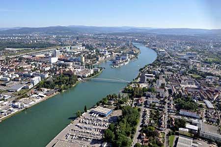 Helikopterflug Basel