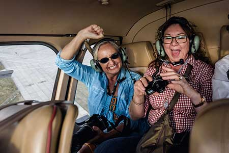 Lunchflug per Hubschrauber