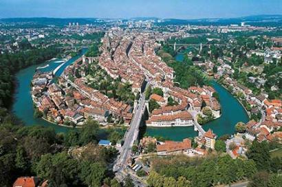 Helikopterflug Bern-City
