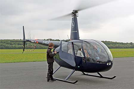 Helikopter R44 Start