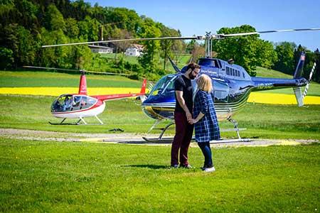 Hubschrauberflug Marl Loemühle