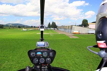 Hubschrauber selber fliegen Flugplatz Frankfurt Aschaffenburg