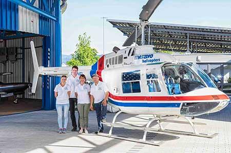 Hubschrauberflug Freiburg