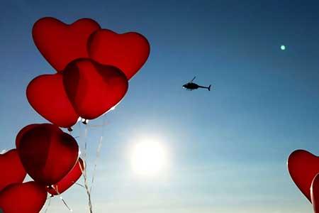 Helikopter Heiratsantrag / Hochzeitsflug