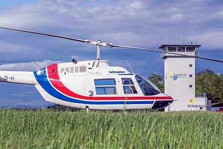 Hubschrauber Freiburg Bremgarten