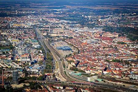 Hubschrauberflug Region Nürnberg