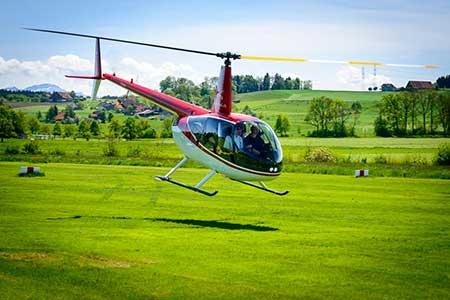 Hubschrauberflug Bodensee