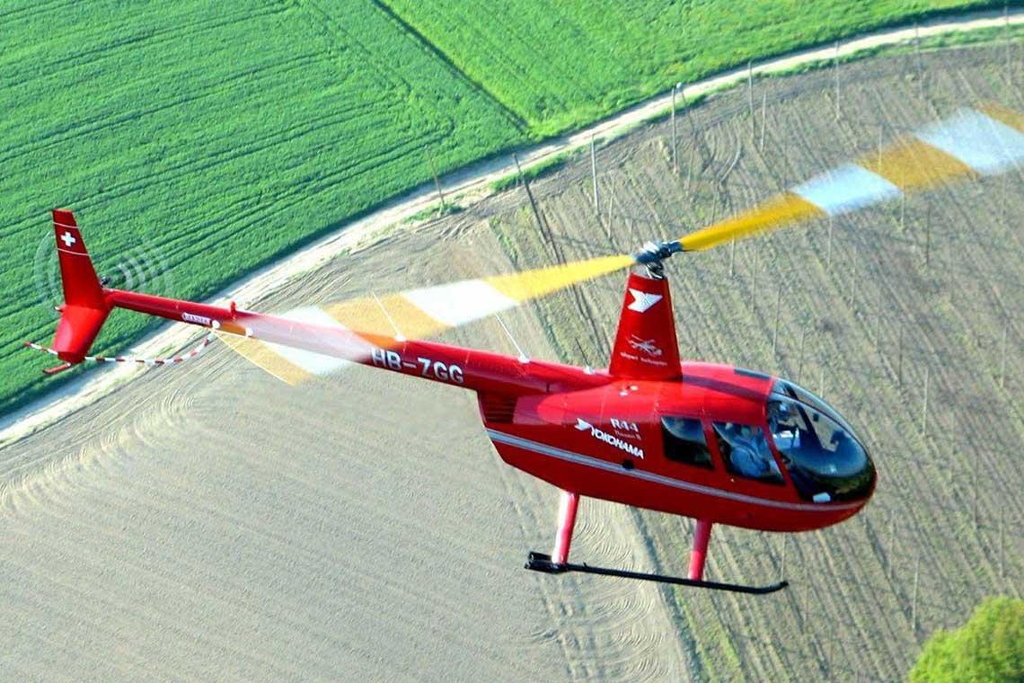 Hubschrauber selber fliegen Cockpit Pilot