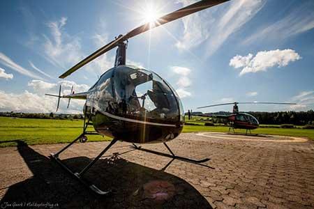 Helikopterpilot für einen Tag