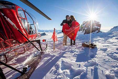 Gletscherlandung Helikopter Zermatt