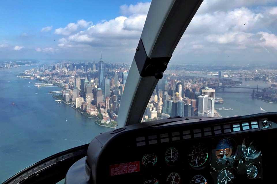 Hubschrauberflug Manhatten