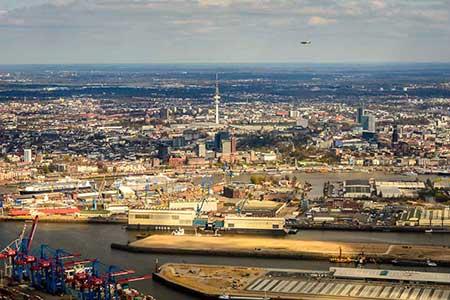 Hubschrauberrundflug Hamburg Uetersen Heist