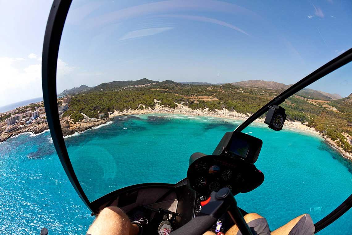 Mallorca Helikopter Selber fliegen