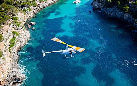 Flugplatz Helikopterflug Mallorca Son Bonet